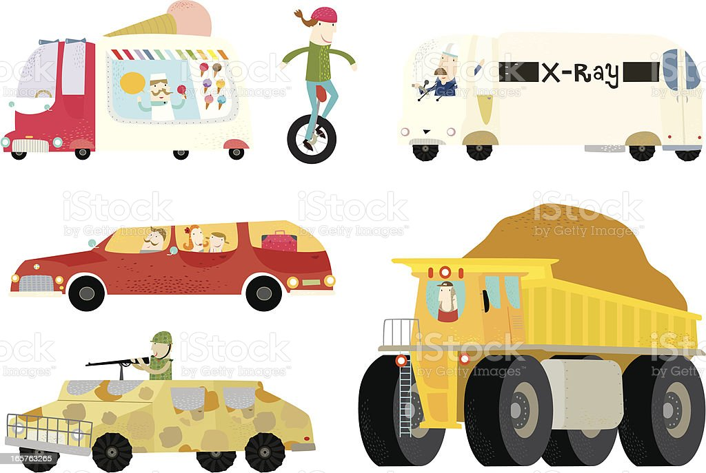 Life in a day- mode of transport vector art illustration