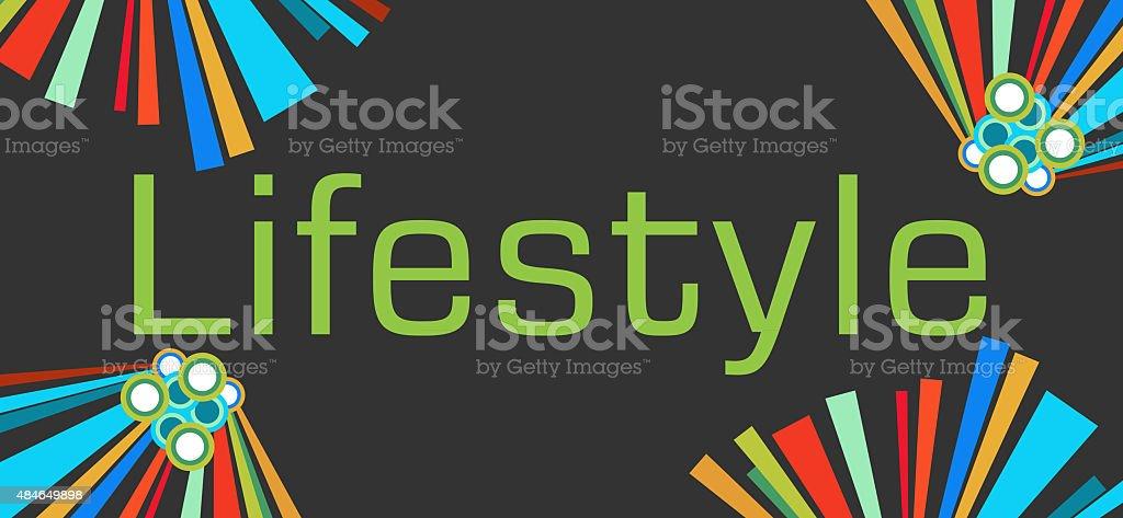 Lifestyle Text Dark Colorful Elements vector art illustration