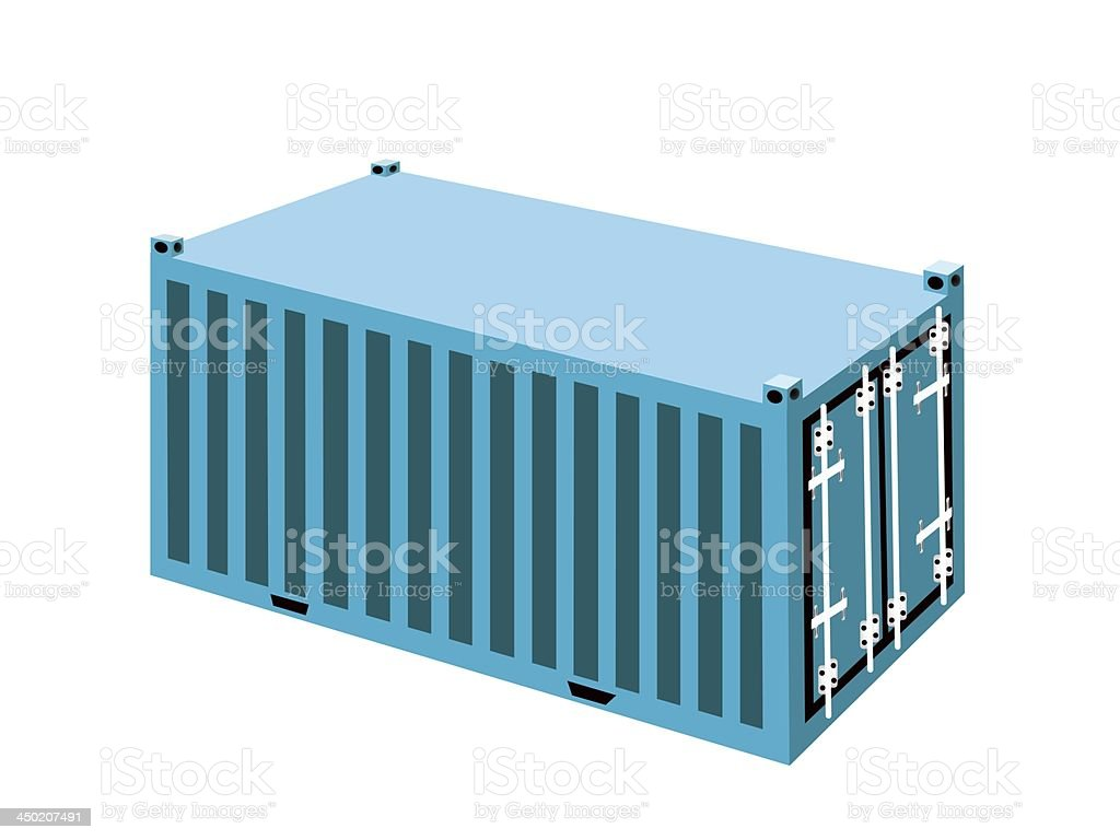 Light Blue Container Cargo royalty-free stock vector art