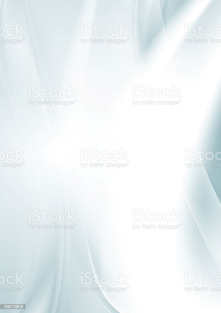 Light blue smooth waves abstract background vector art illustration