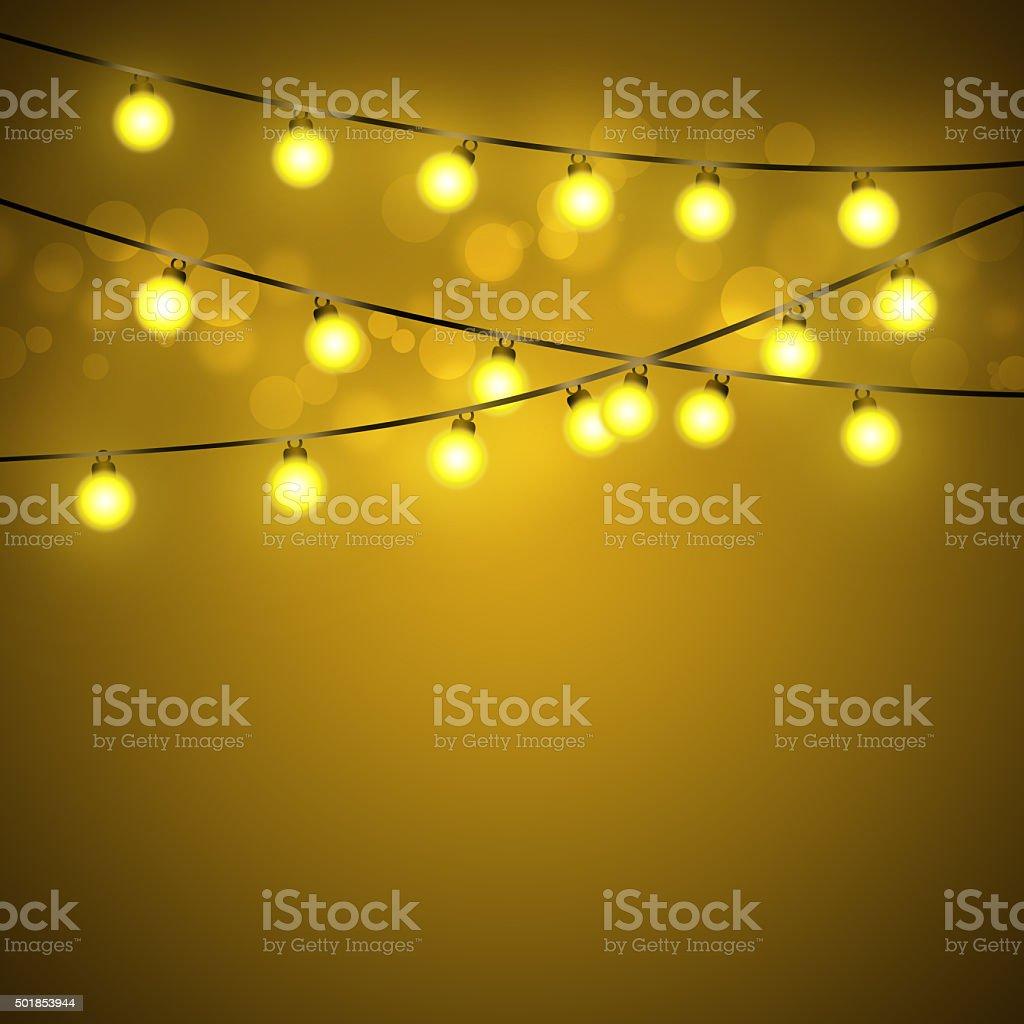 Light bulb abstract vector art illustration
