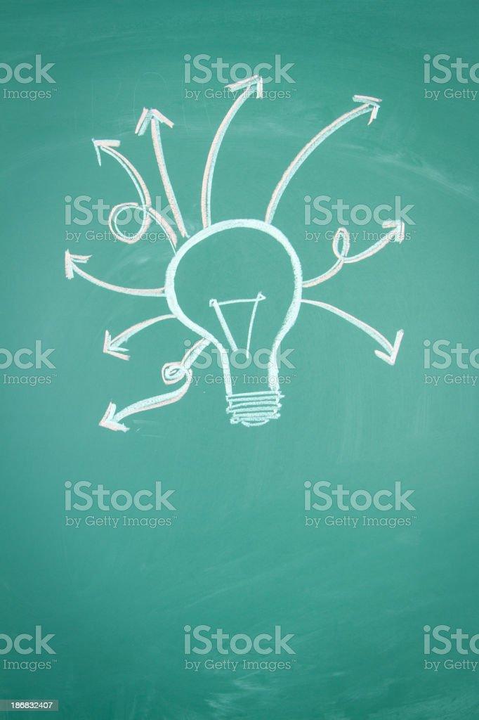 Light Bulb Concept vector art illustration