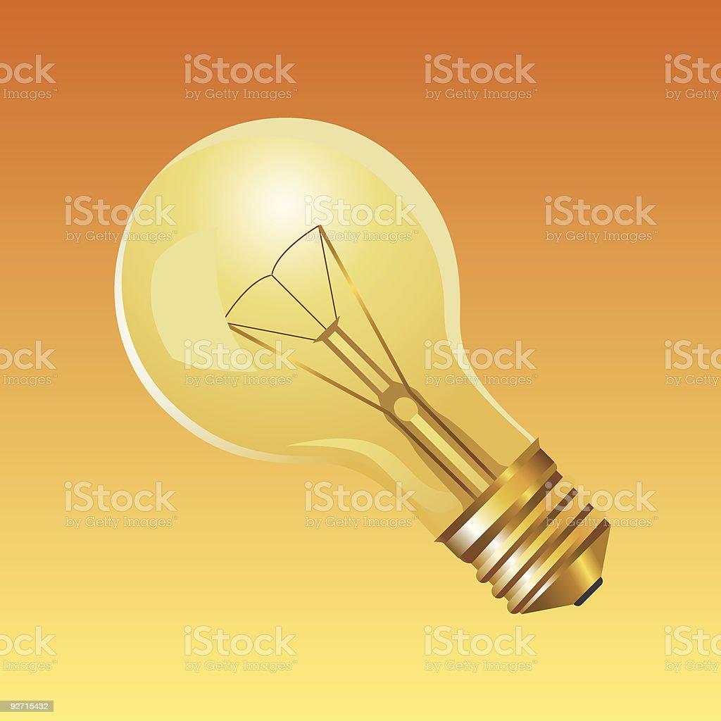 Light bulb - vector royalty-free stock vector art