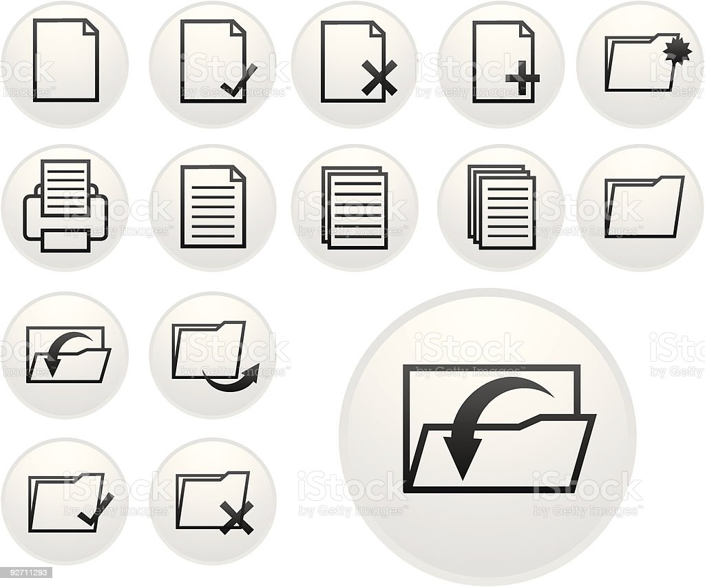 light document icons royalty-free stock vector art
