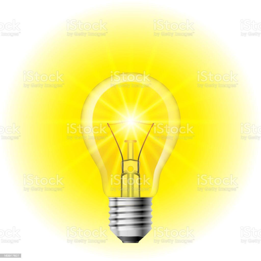 Light Filament lamp royalty-free stock vector art