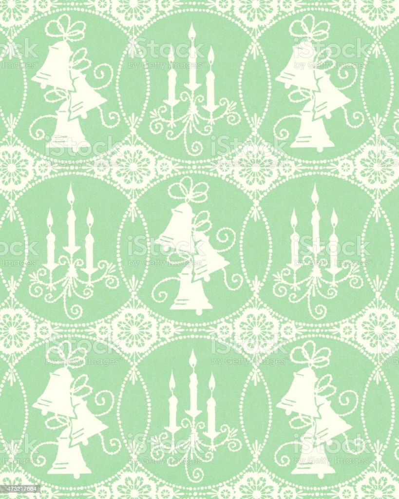 Light Green Pattern vector art illustration