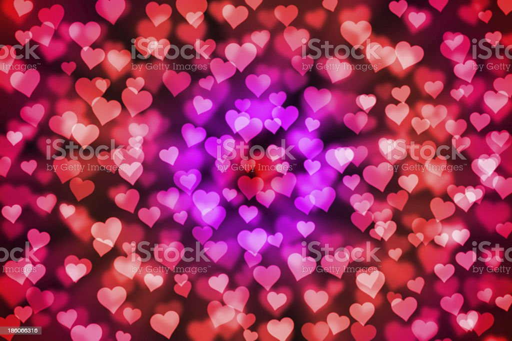 light hearts bokeh as background royalty-free stock vector art