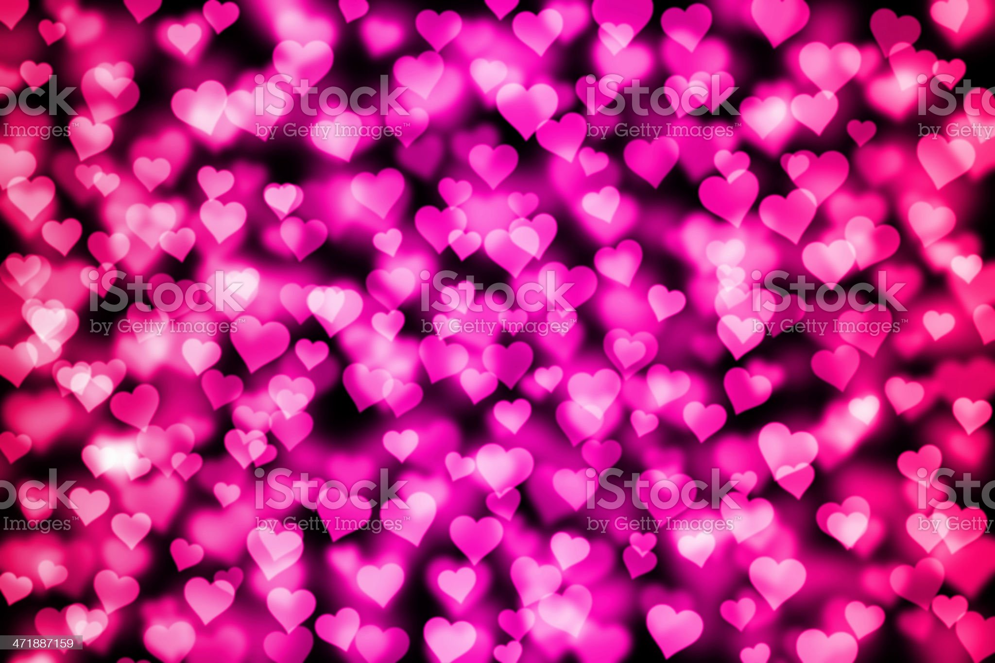 light hearts bokeh as background royalty-free stock vector art