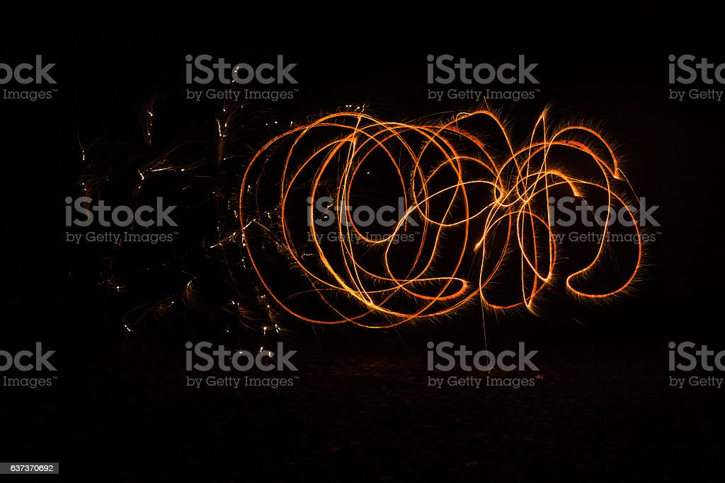 light painting vector art illustration