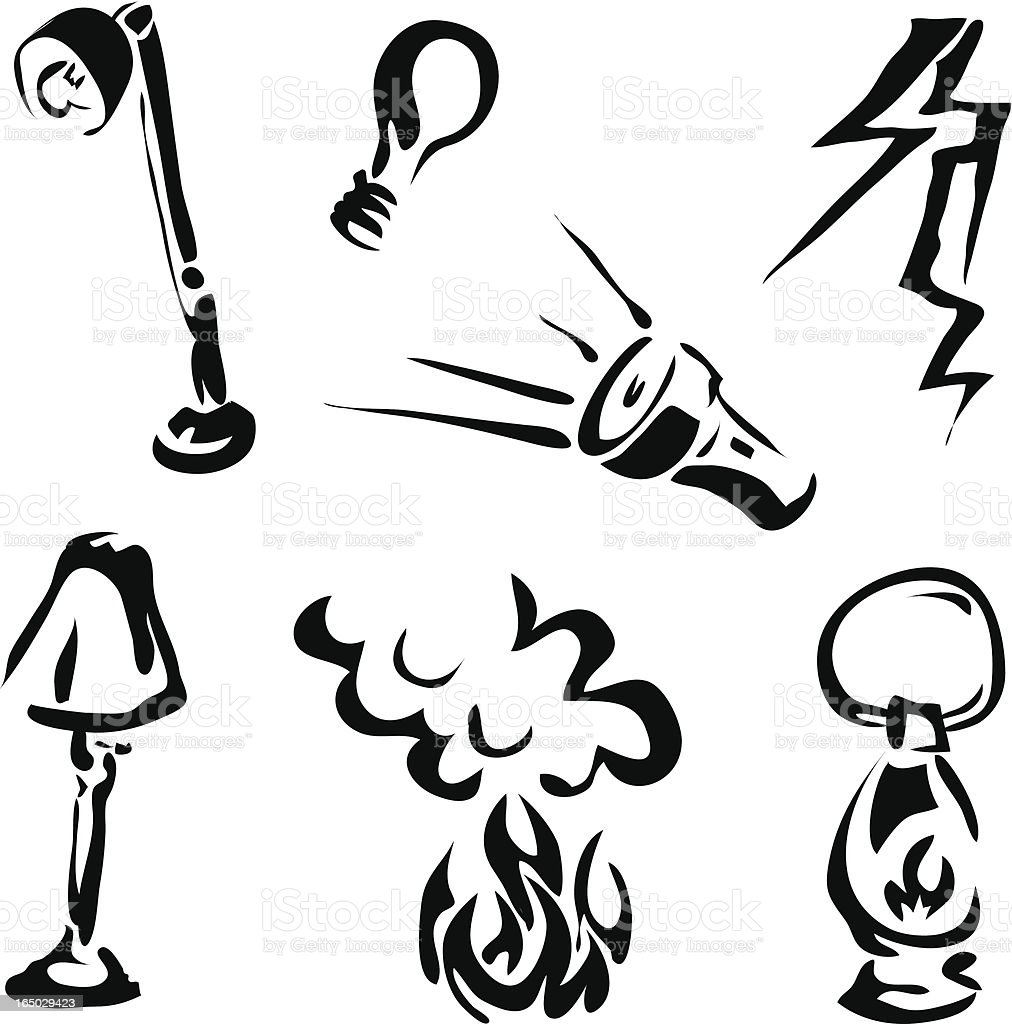Light Sources vector art illustration