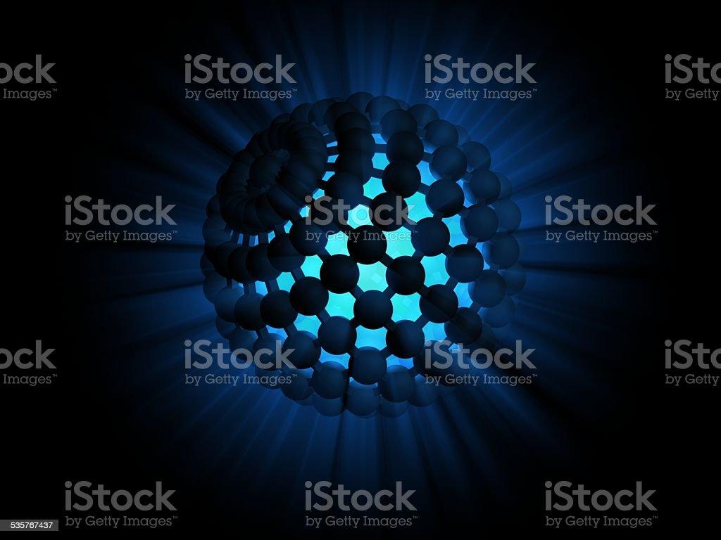 light sphere vector art illustration