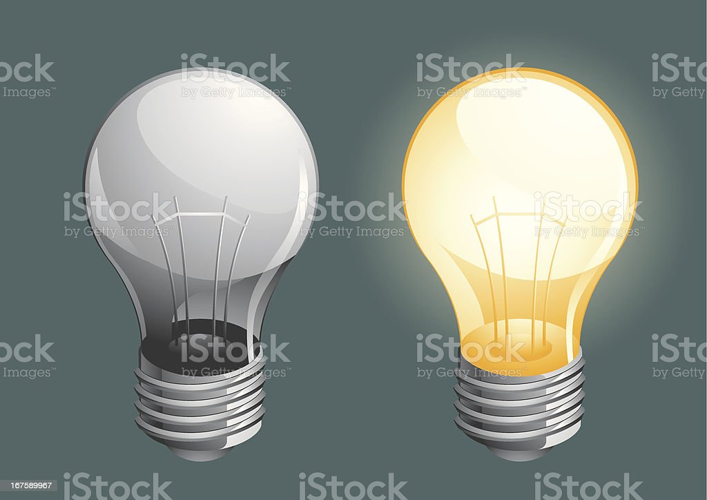 Lightbulb vector art illustration