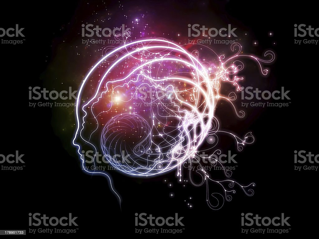 Lights of Inner Thoughts royalty-free stock vector art