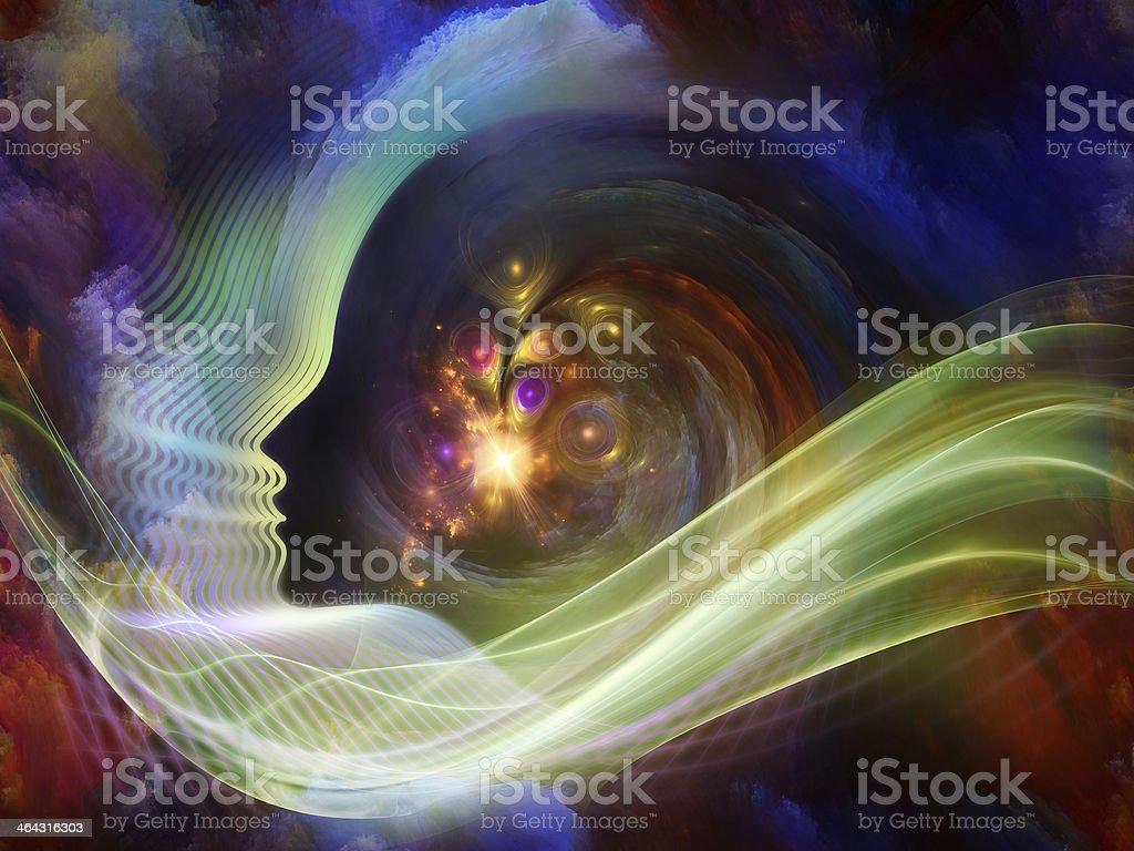 Lights of the Soul vector art illustration