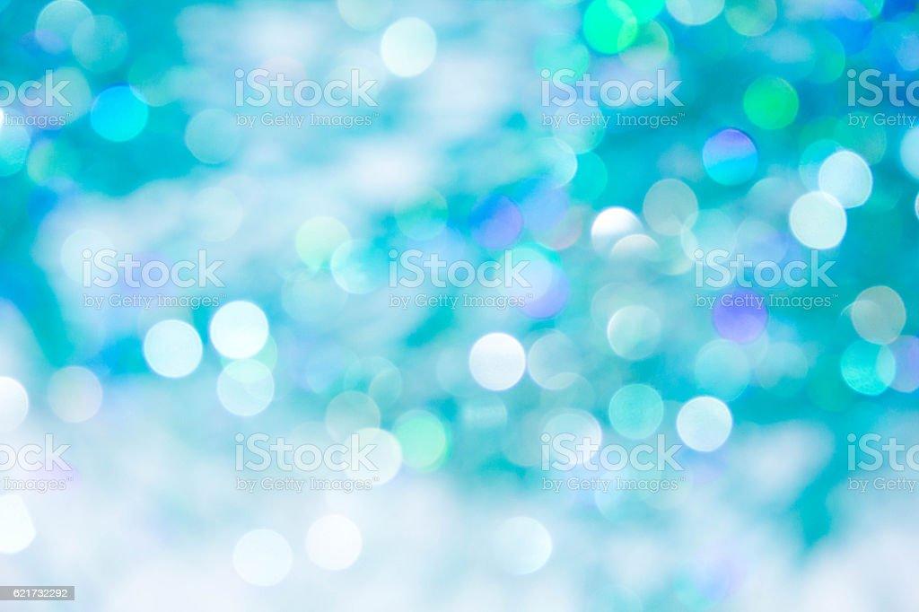Lights on blue background. holiday bokeh vector art illustration