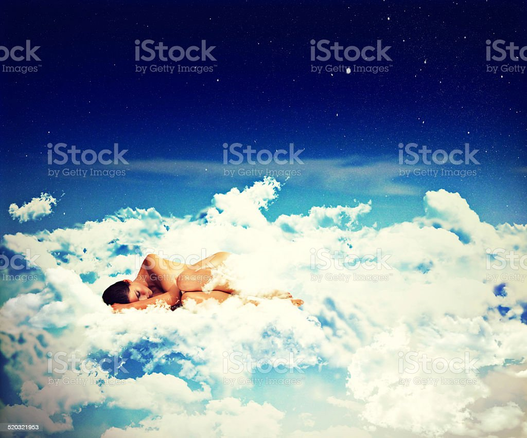 Like floating on air vector art illustration