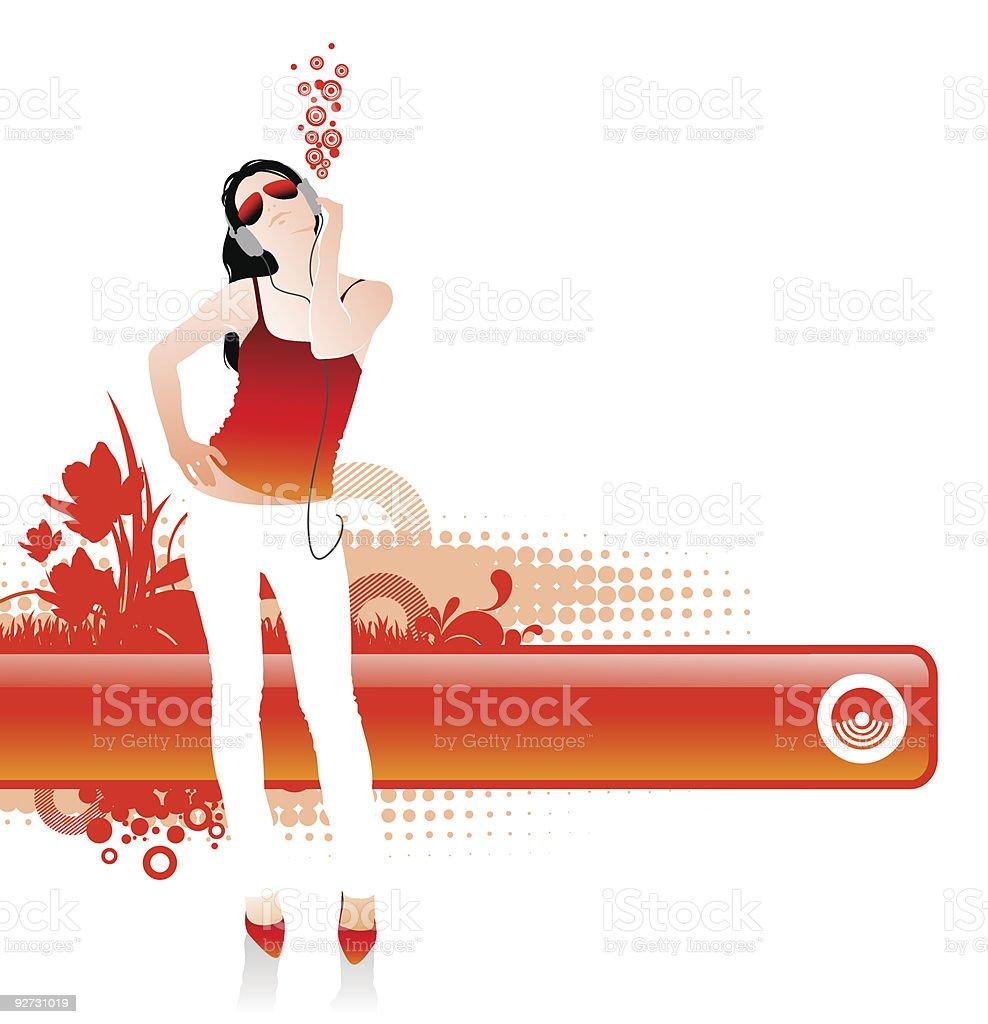 I like music royalty-free stock vector art