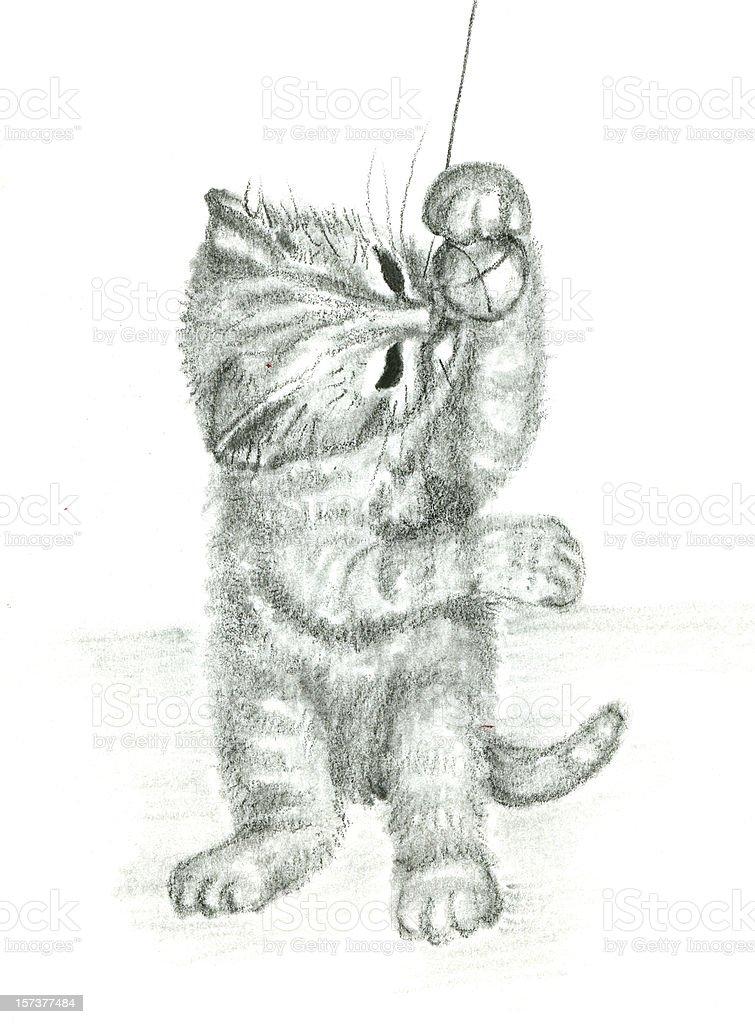 Ich mag das Spiel mit kleinen Bällen! Lizenzfreies vektor illustration