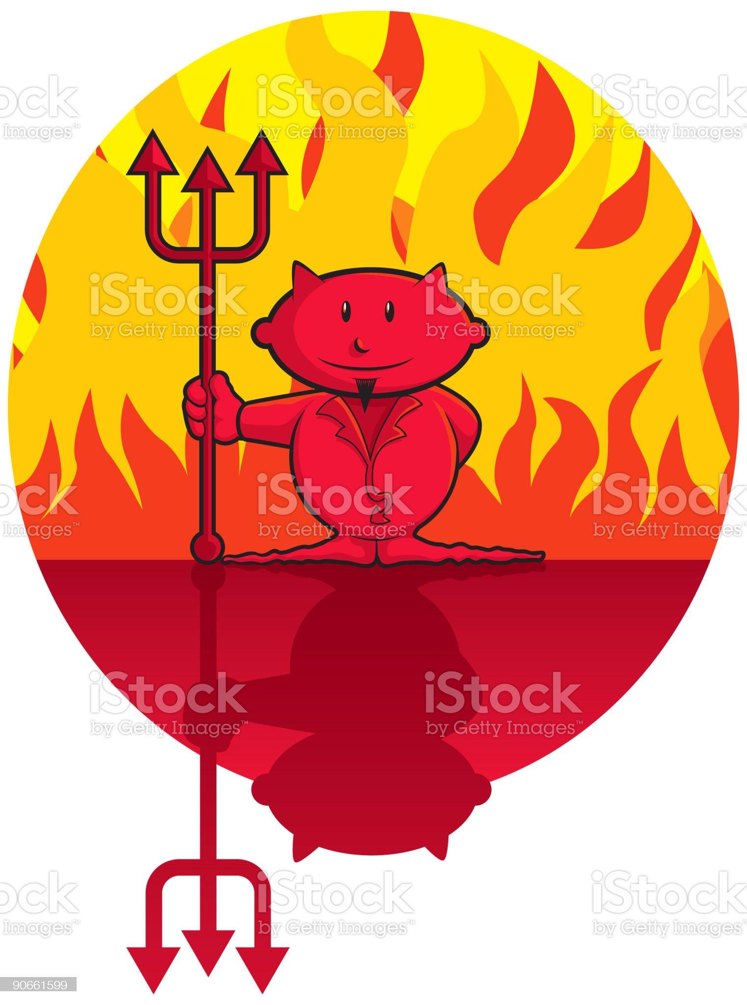 Lil' Devil (vector) royalty-free stock vector art