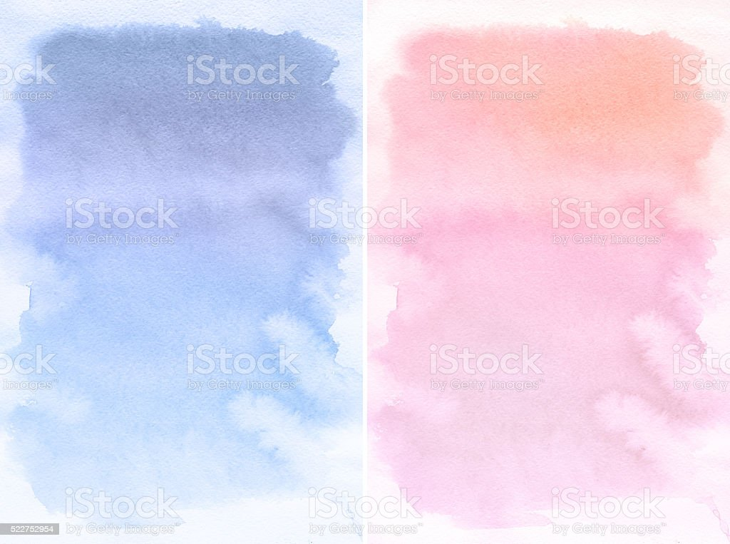Lilac and rose spot, watercolor abstract hand painted background vector art illustration