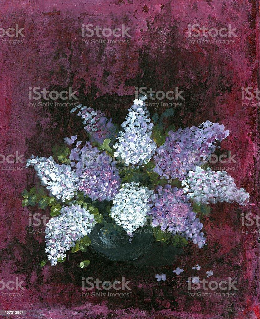 Lilac arrangement vector art illustration
