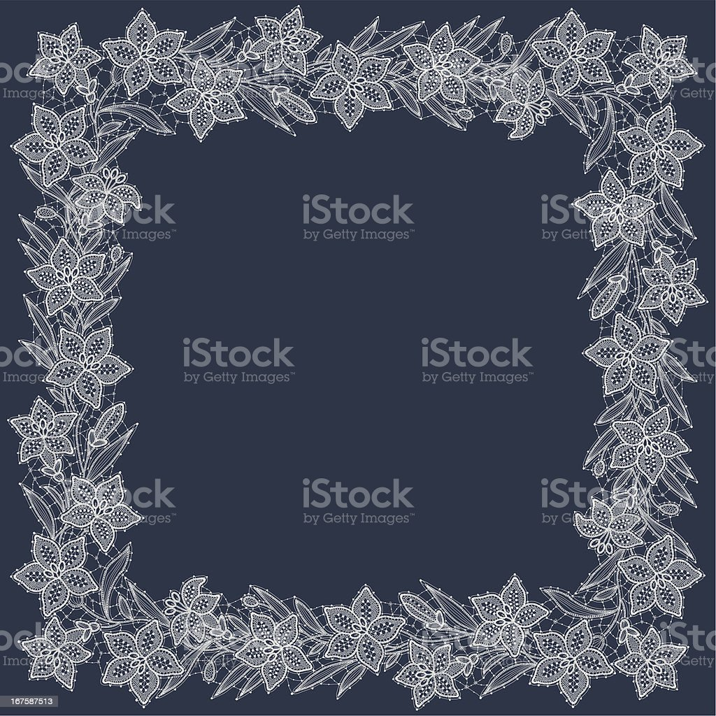 Lily Lace Frame royalty-free stock vector art