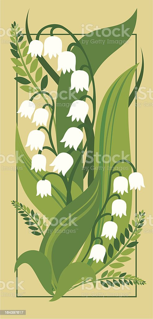 Lily of the valley royalty-free stock vector art
