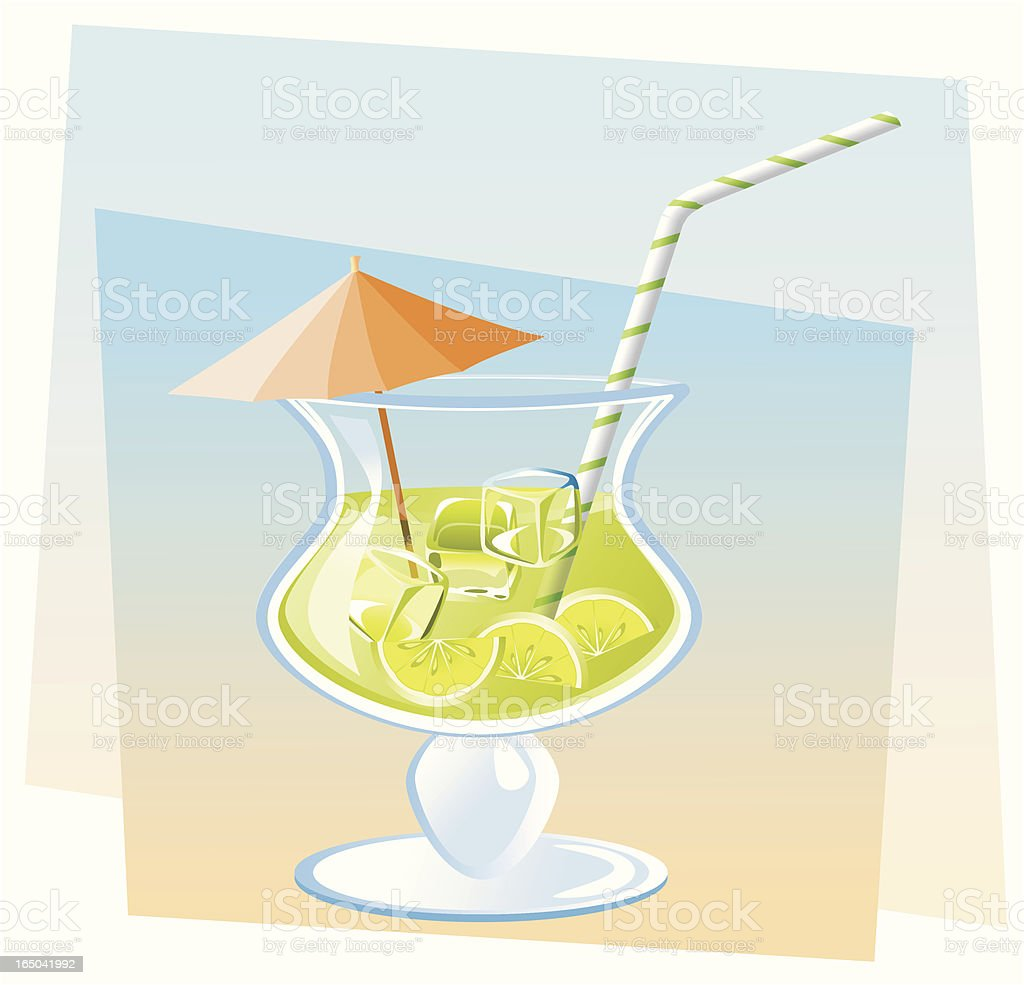 Lime cocktail royalty-free stock vector art