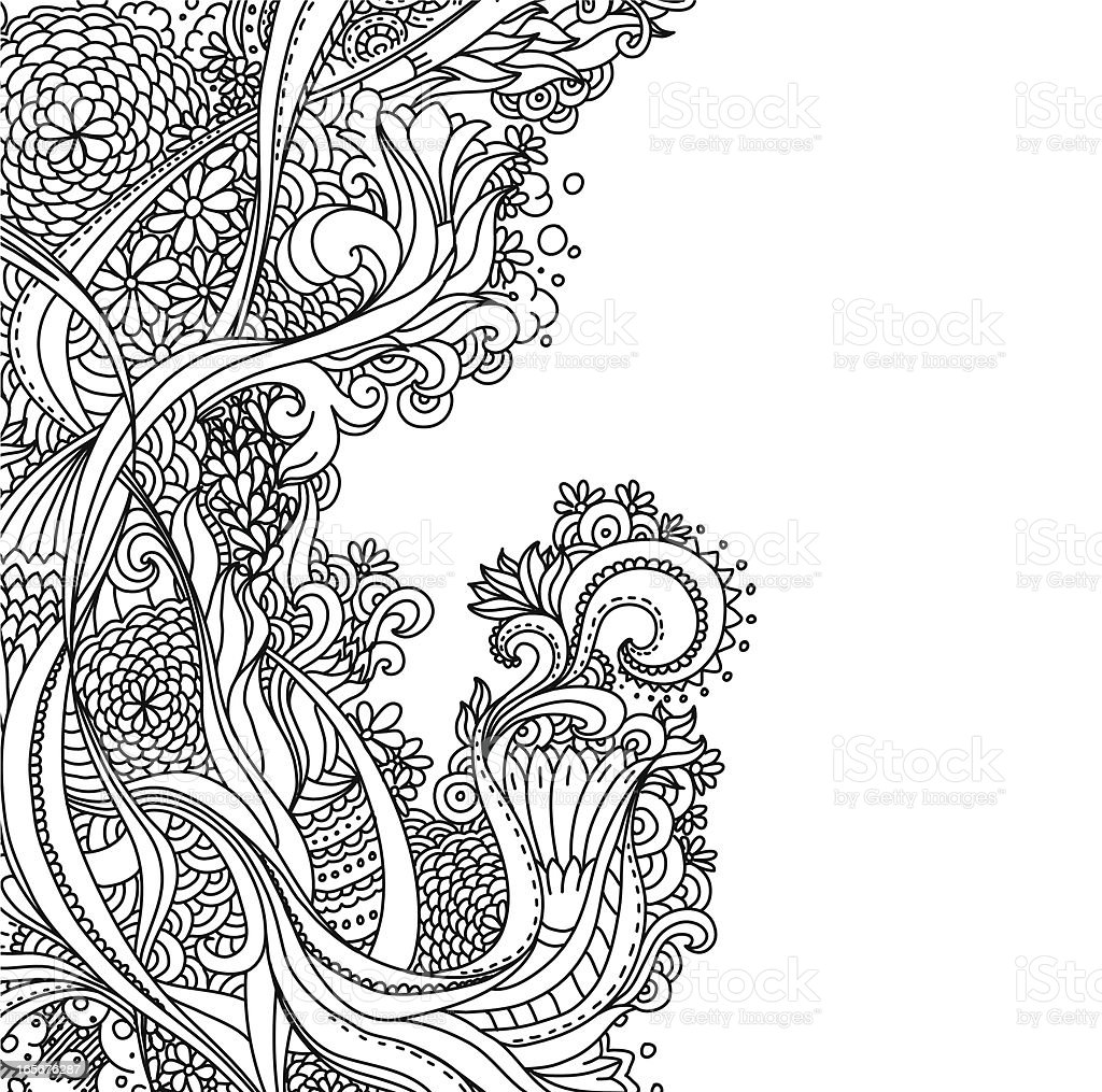 Line Design Artwork : Line art design stock vector istock