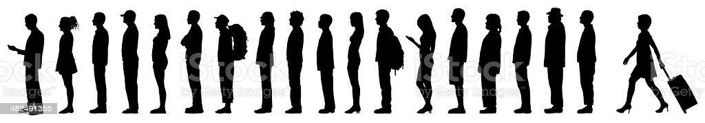 Line vector art illustration