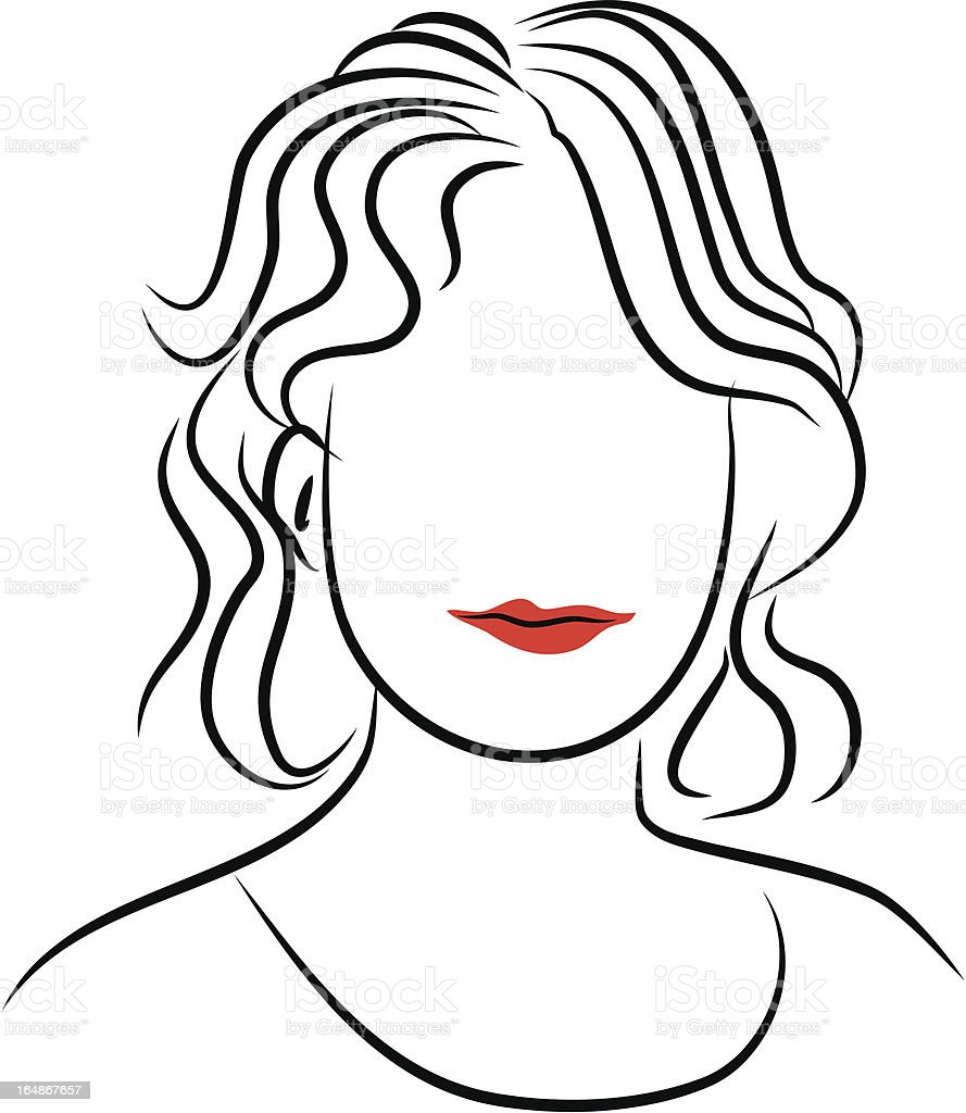 Line Lady royalty-free stock vector art