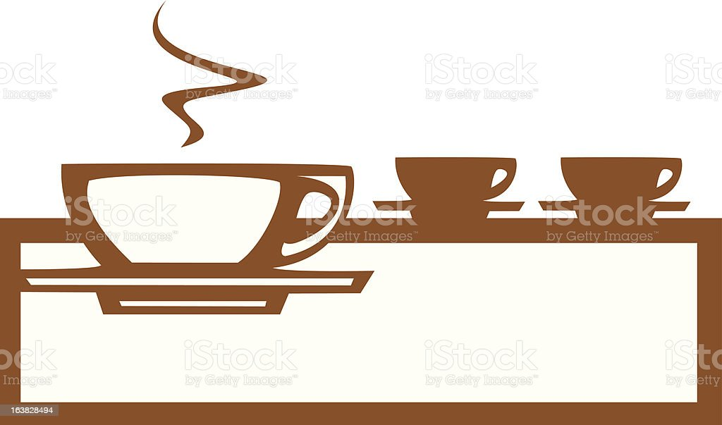 Line of Coffee Cups royalty-free stock vector art