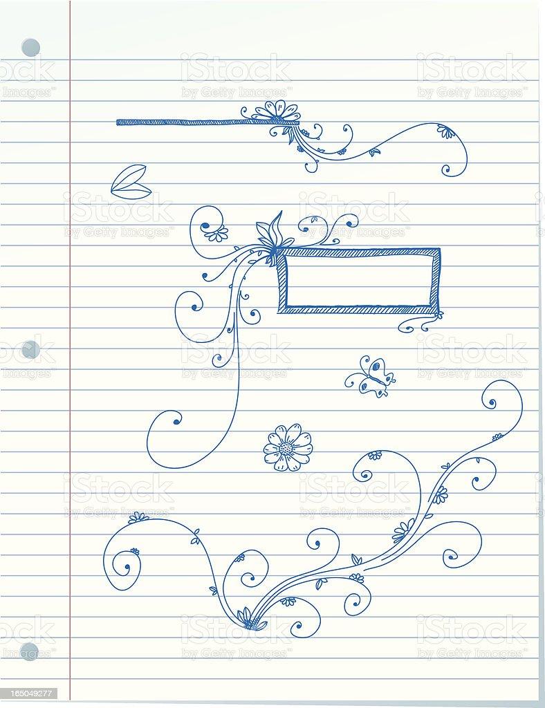 Line Paper Doodles royalty-free stock vector art