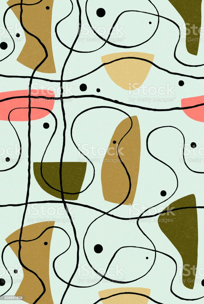 Line pattern vector art illustration