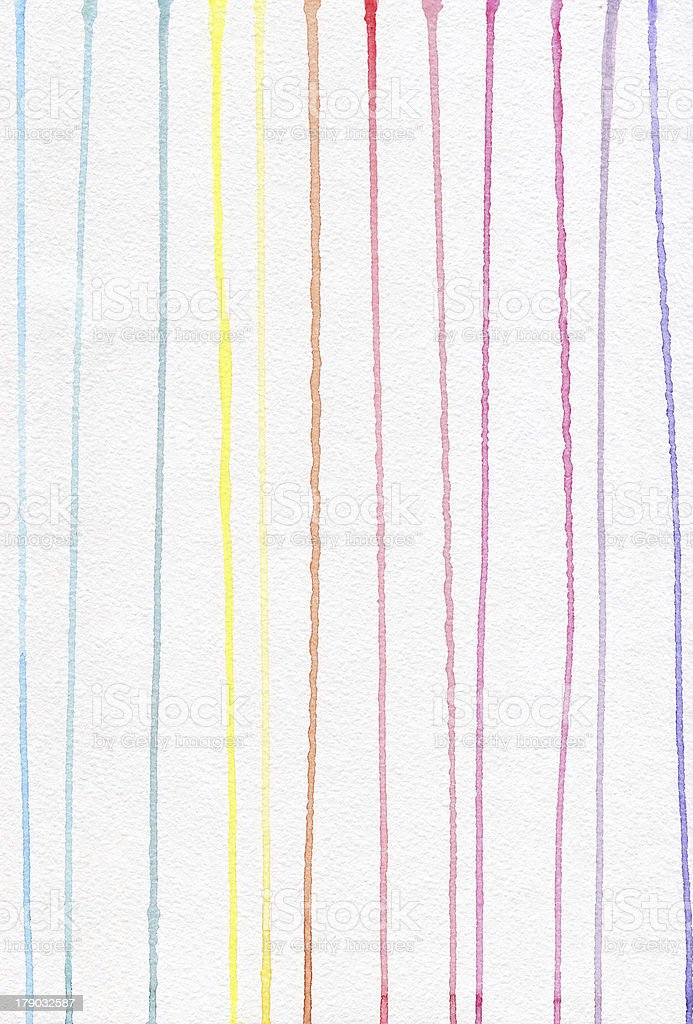 Line pattern watercolor. Drops paint flowing down on a sheet. royalty-free stock vector art
