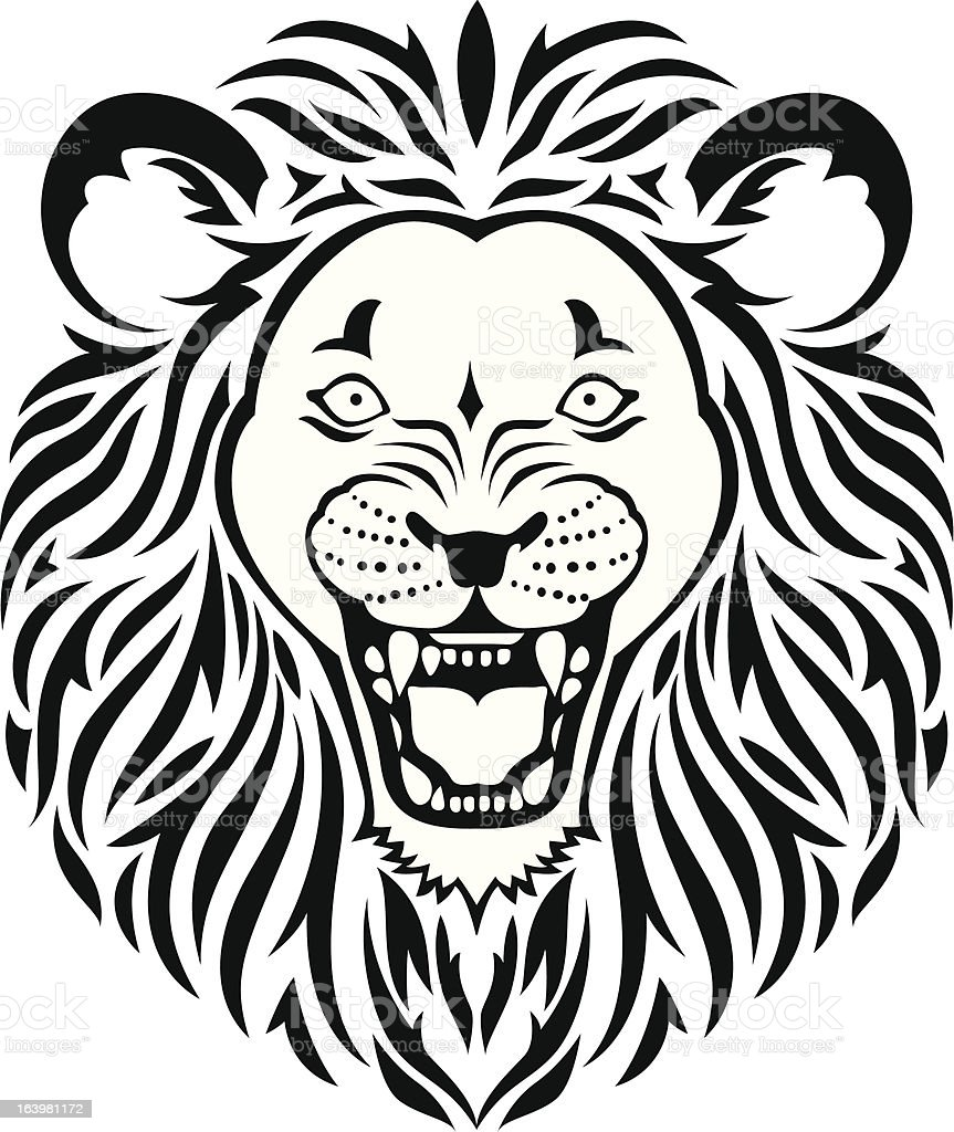 Lion head tattoo royalty-free stock vector art
