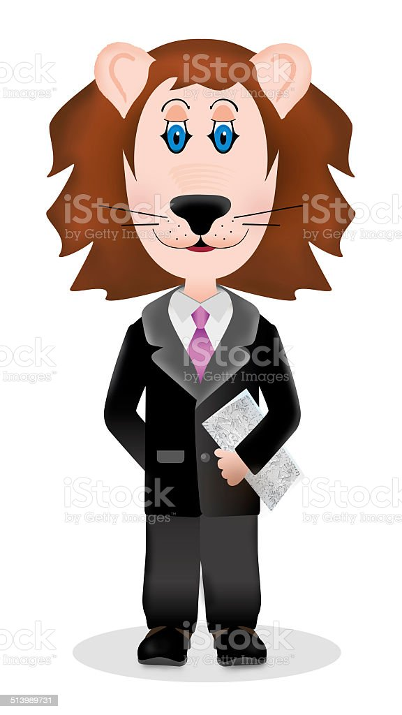 Lion in the suit royalty-free stock vector art