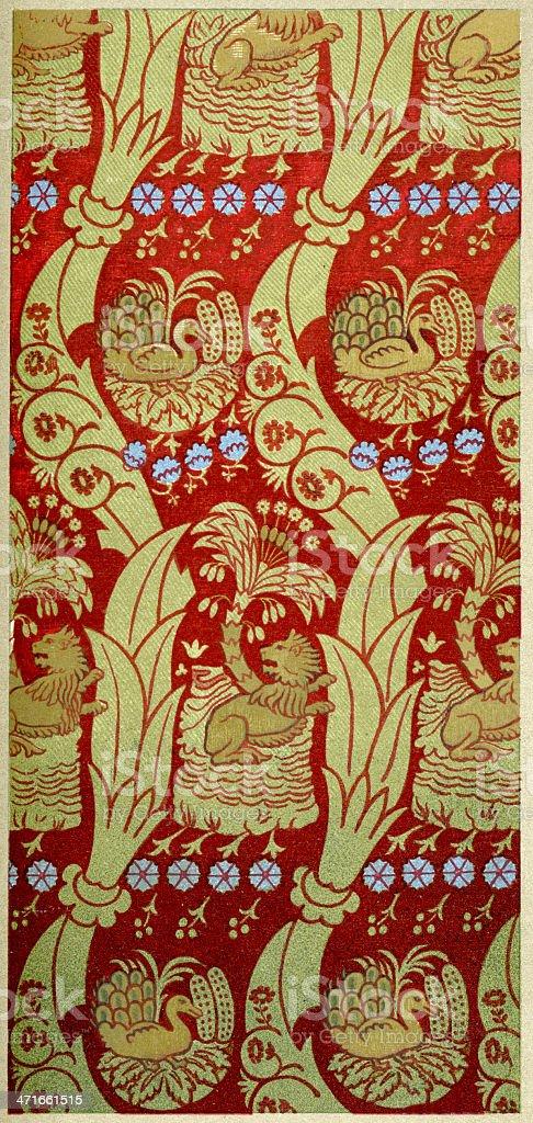 Lion Pattern - 13th Century royalty-free stock vector art