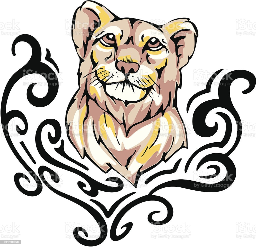 lioness tattoo royalty-free stock vector art