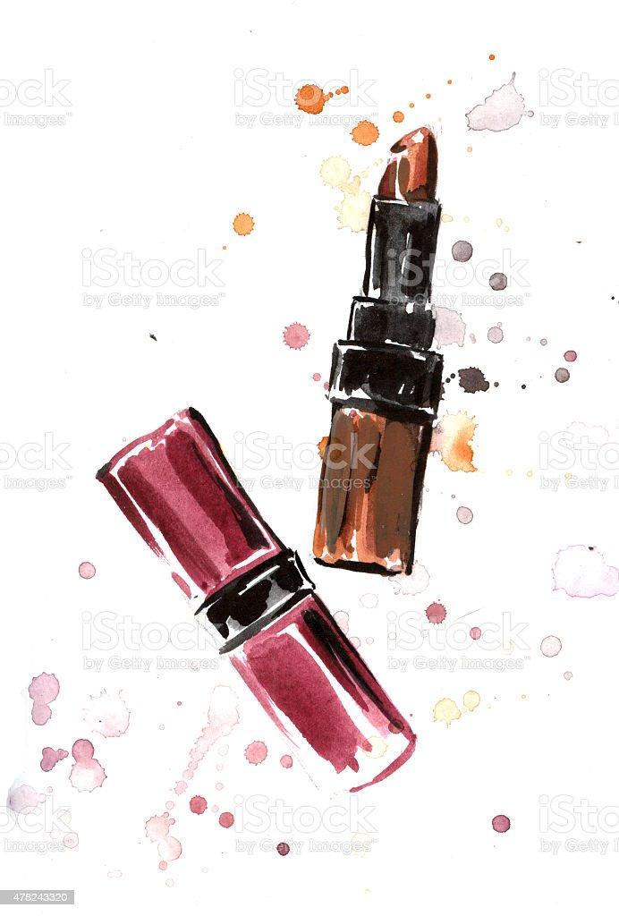 Lipsticks royalty-free stock vector art