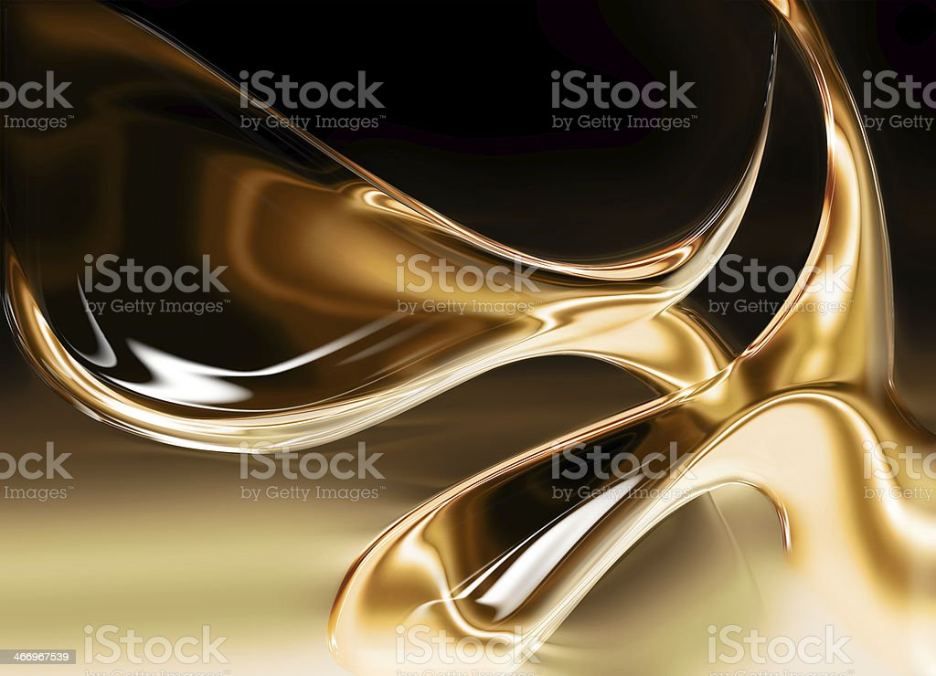 liquid gold vector art illustration