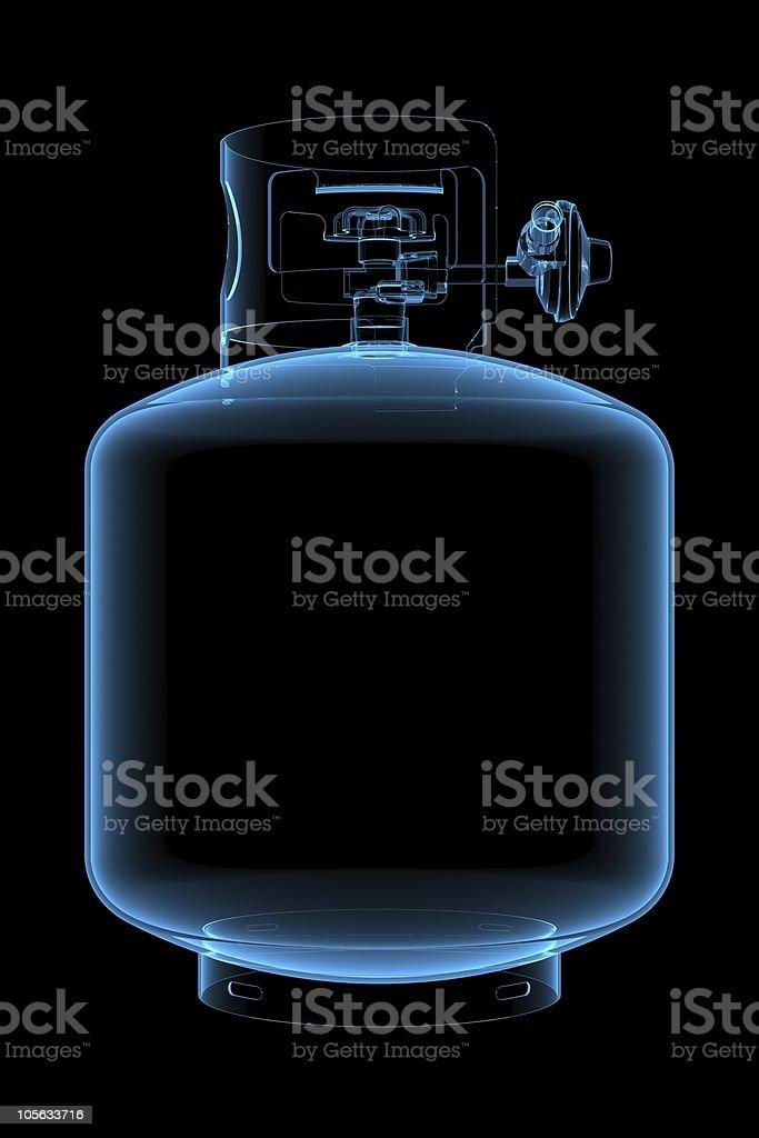 Liquid propane tank royalty-free stock vector art