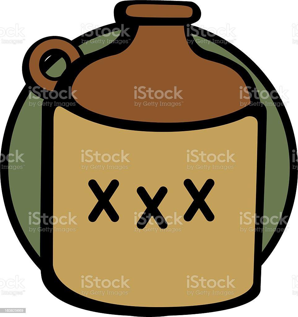 liquor bottle vector art illustration