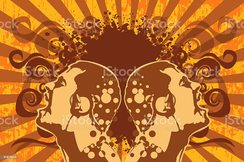 listening rock music royalty-free stock vector art