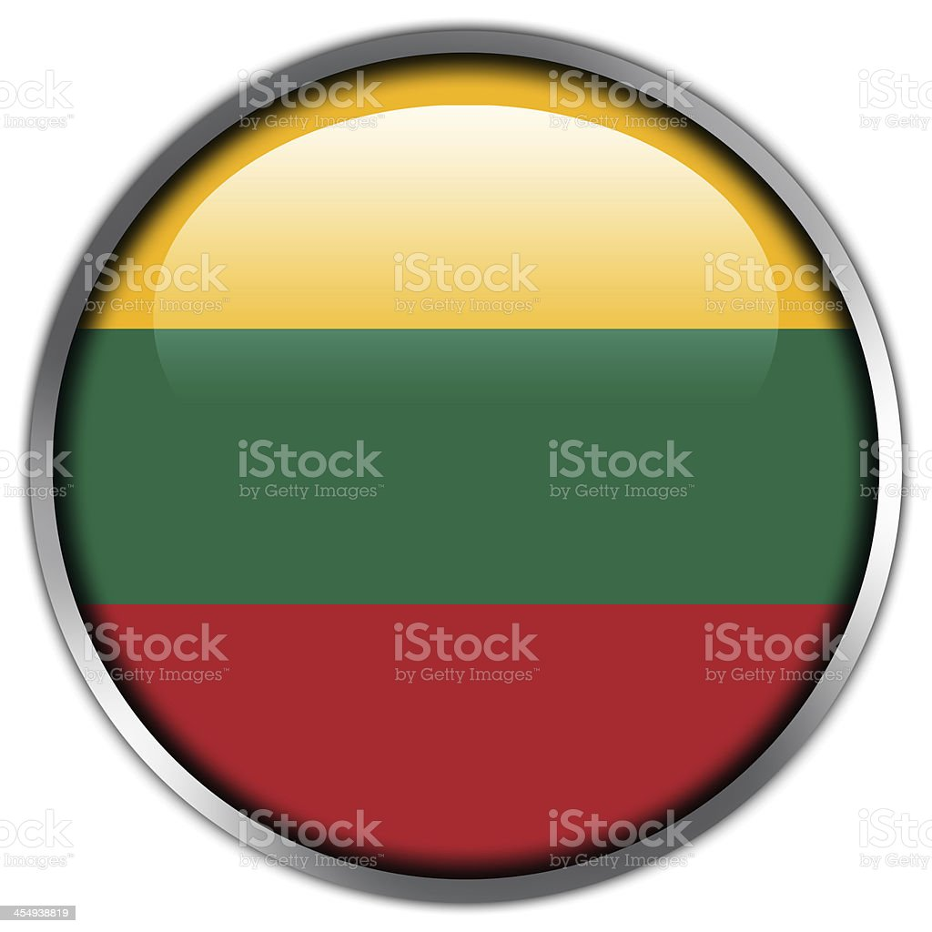 Lithuania Flag glossy button royalty-free stock vector art