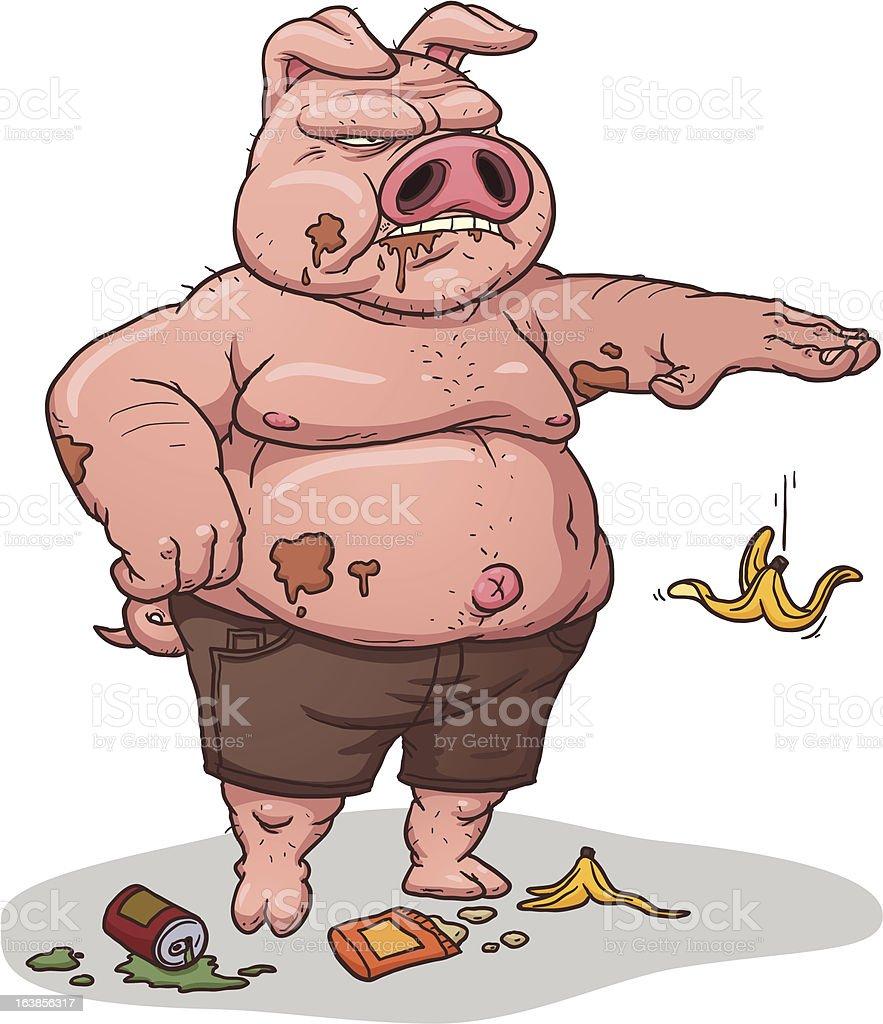 Littering Pig stock vector art 163856317 | iStock