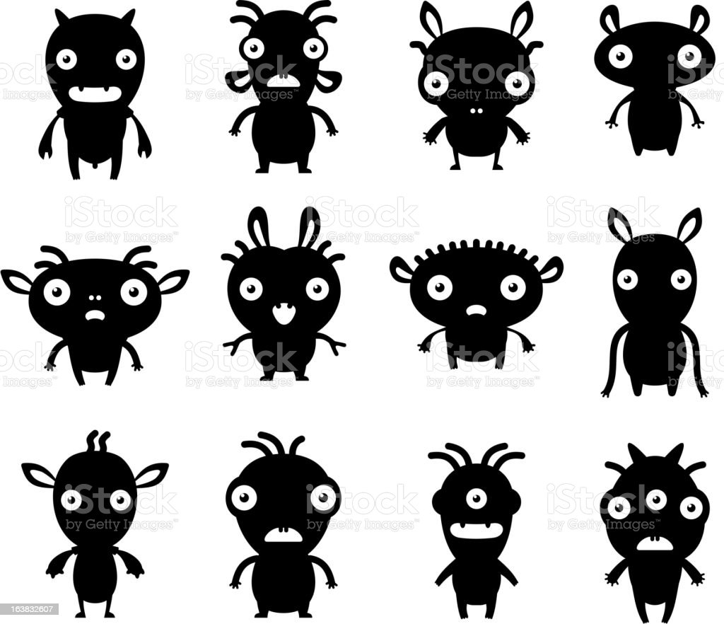 Little black pets royalty-free stock vector art