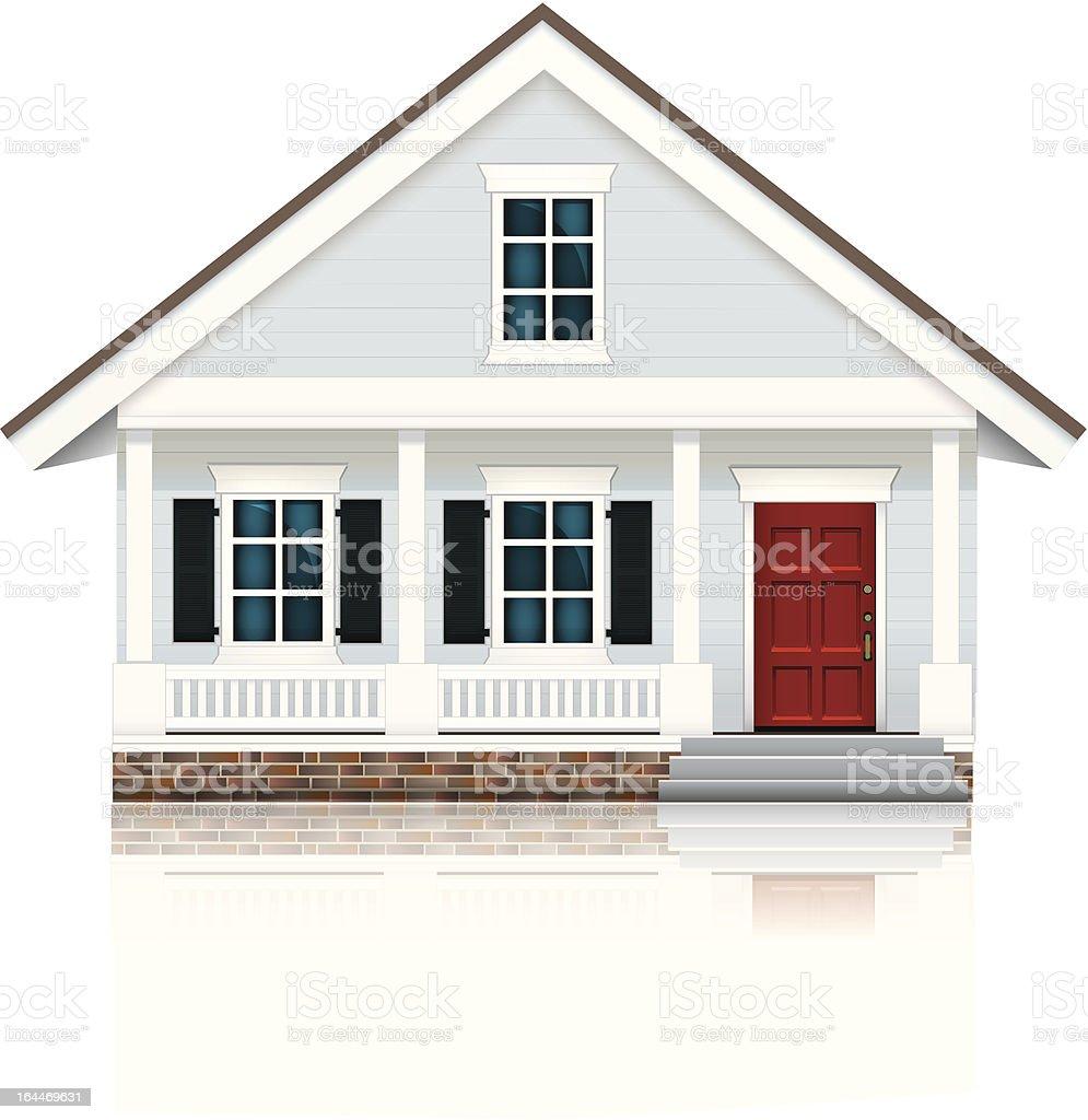 Little Blue House vector art illustration