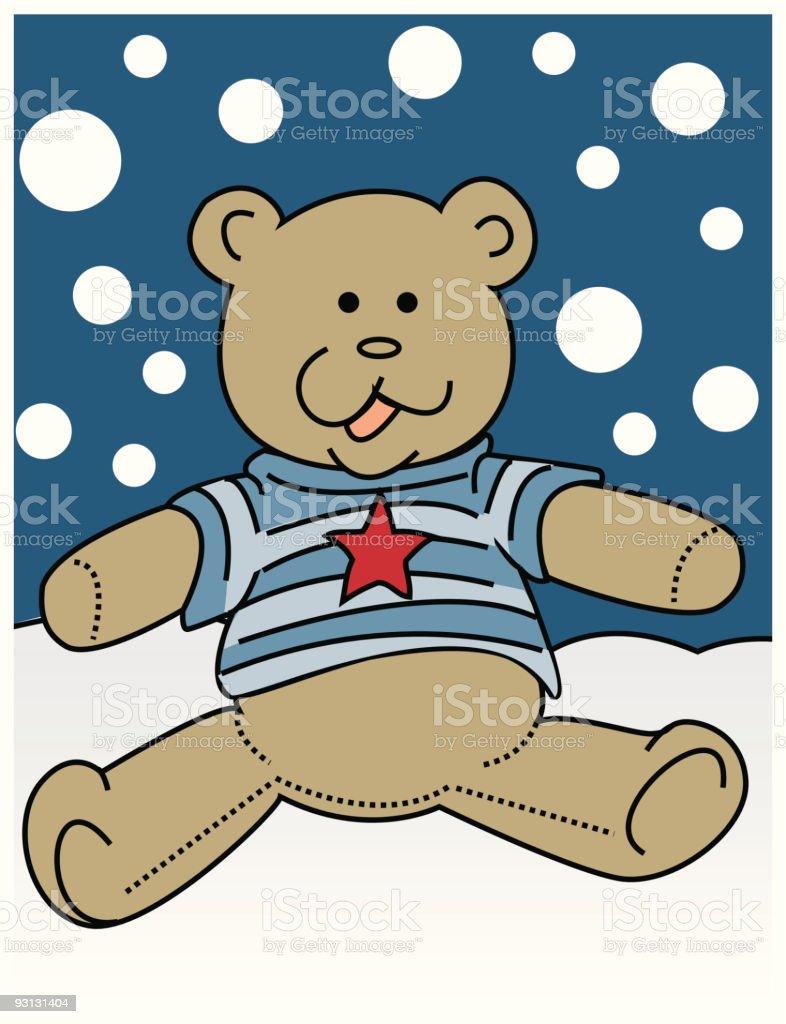 Little Boy Teddy Bear vector art illustration