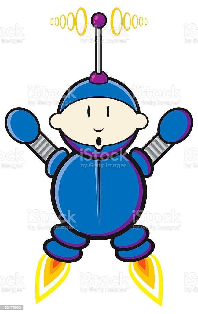 Little Cartoon Spaceboy royalty-free stock vector art